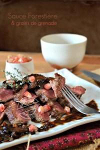 Dégustation recette plancha boeuf de dessus de palette sauce forestière - Kaderick en Kuizinn