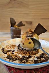 Dégustation Poire chocolat - Croustillant poire pochée et chocolat - Kaderick en Kuizinn