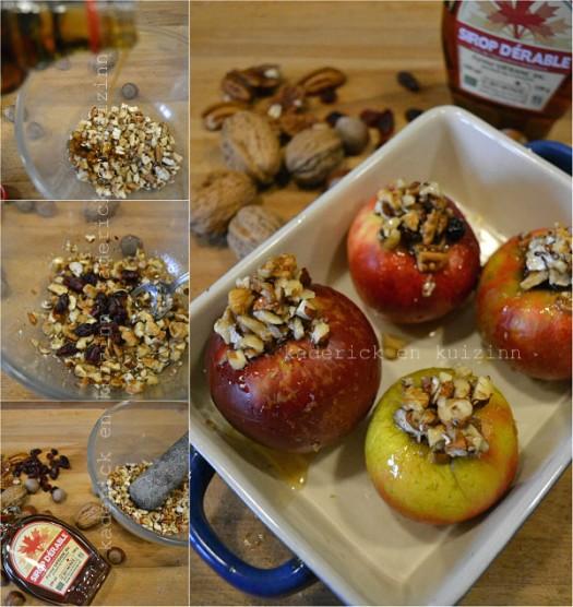 Préparation pomme au four crumble aux noix, pécan et sirop d'érable - Kaderick en Kuizinn