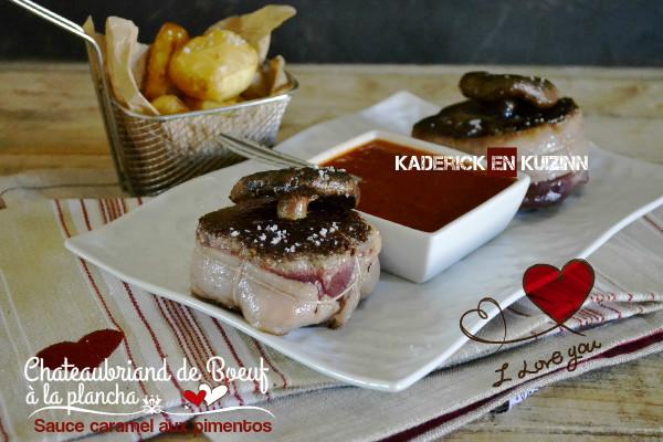 Recette Chateaubriand boeuf - Duo de boeuf sauce piquillos  Kaderick en Kuizinn