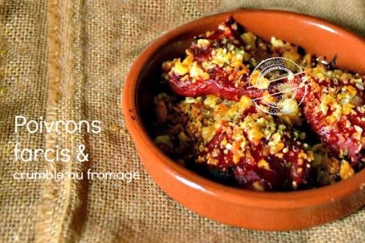 Poivrons farcis ou recette piquillos farcis de crumble salé - Kaderick en Kuizinn