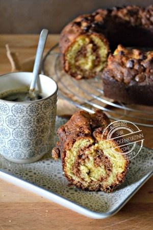 Dégustation cake marbre - Cake savane mi chocolat noir mi chocolat blanc chez Kaderick en Kuizinn