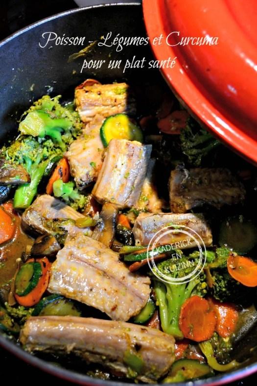 Degustation cocotte poisson - Roussette légumes et curcuma chez Kaderick en Kuizinn