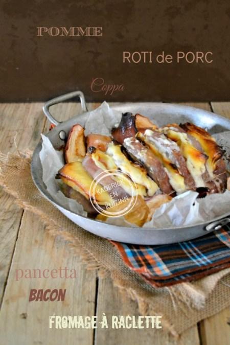 Dégustation roti porc - Recette roti orloff avec restes de raclette chez Kaderick en Kuizinn