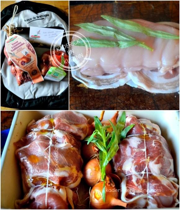 Préparation Echalote - Paupiette poulet aux échalotes et estragon chez Kaderick en Kuizinn