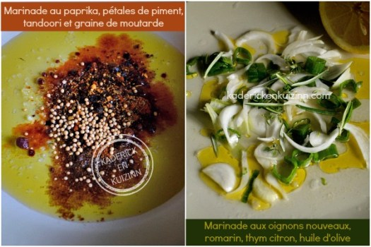 Recette marinade épice - Dossier marinade et plancha côte boeuf chez Kaderick en Kuizinn