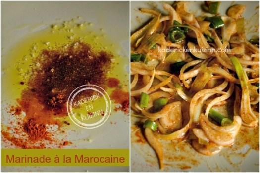 Recette marinade marocaine - Dossier marinade et plancha côte boeuf chez Kaderick en Kuizinn