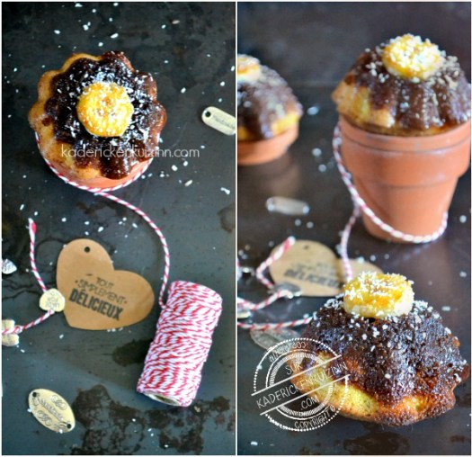 Présentation muffins banane - Recette muffins tatin banane coco chez Kaderick en Kuizinn