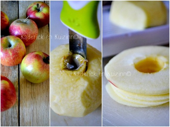 Découpage gateau pommes - Moelleux aux pommes façon tatin chez Kaderick en Kuizinn©