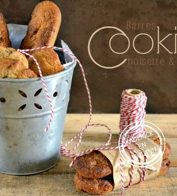 Recette Barres cookies - Cookies aux noisettes et chocolat chez Kaderick en Kuizinn