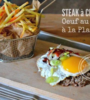 Recette steak plancha - Steak à cheval cuisson œuf plancha chez Kaderick en Kuizinn