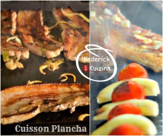 Cuisson poitrine porc - Plancha porc tandoori ou citron thym chez Kaderick en Kuizinn