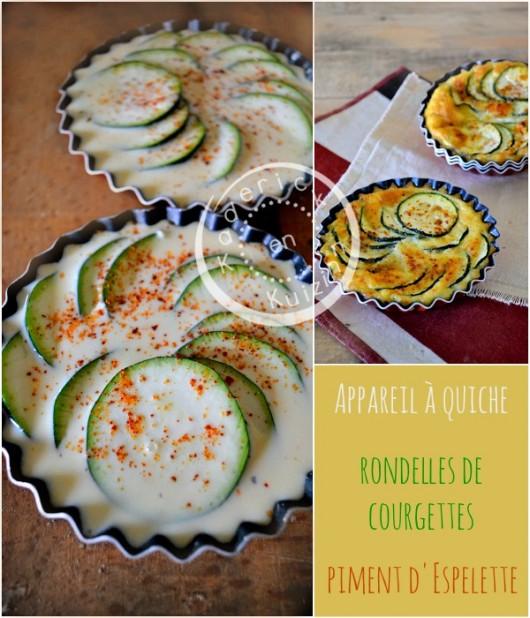 Préparation quiche courgette - Quiche sans pâte courgette piment chez Kaderick en Kuizinn©