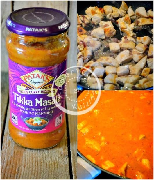 Préparation Pataks - Partenariat et recette poulet Tikka Masala chez Kaderick en Kuzinn©