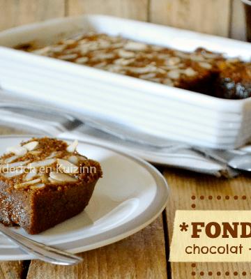 Recette fondant chocolat praliné amande Omnicuiseur chez Kaderick en Kuizinn