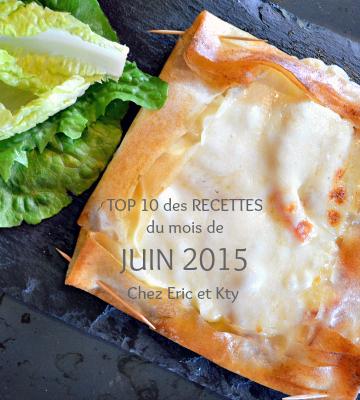 Juin 2015 - Top 10 des recettes mois Juin 2015 chez Kaderick en Kuizinn