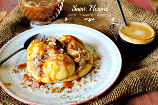 Recette Saint Honore - Recette Saint Honore café et caramel chez Kaderick en Kuizinn