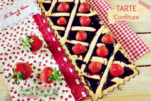 Recette tarte confiture - Crostata della nonna alla confettura chez Kaderick en Kuizinn