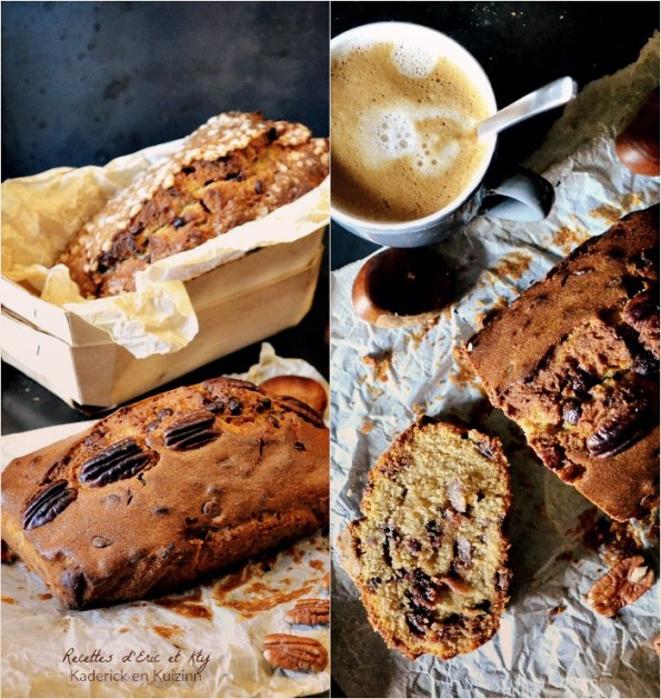 Minis cakes façon madeleine crème de marrons chocolat et noix de pécan