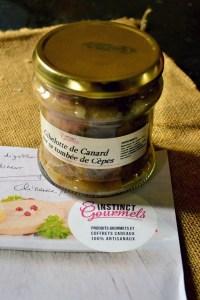 Partenariat Instinct Gourmets gibelotte de canard aux cèpes
