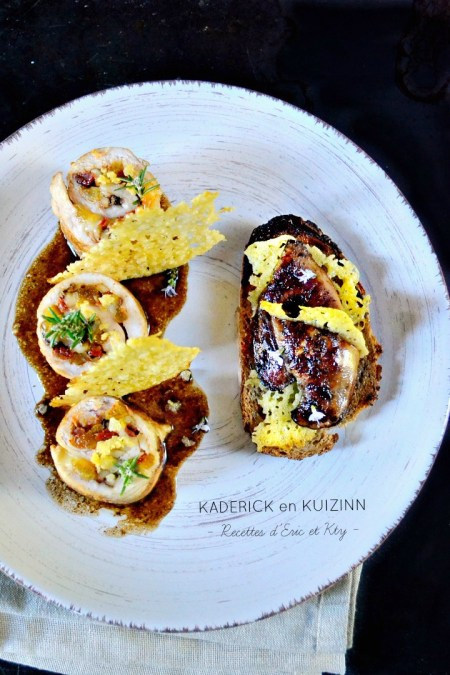 Recette ballotine de poulet et escalope foie gras poêlé plancha