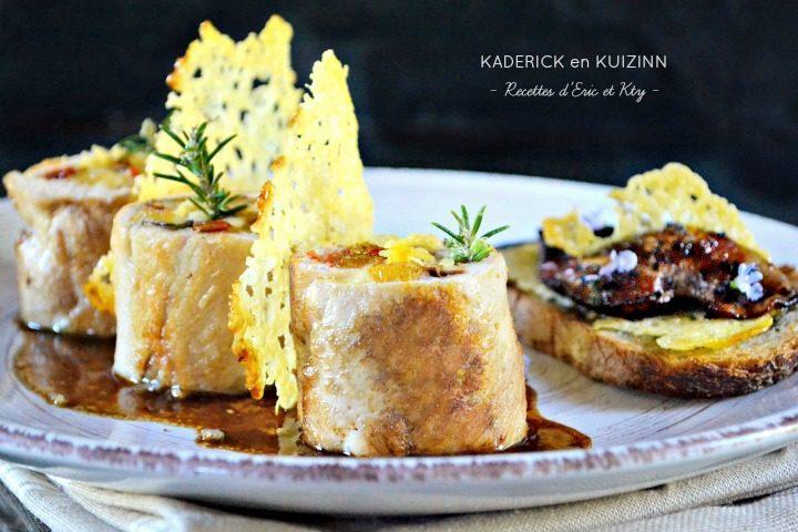 Recette ballotine de poulet et foie gras poêlé à la plancha
