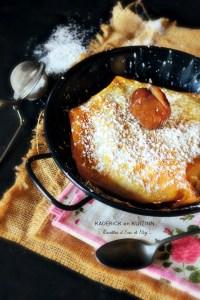 Pastilla de Noël pommes caramélisées sirop vanille marrons glacés