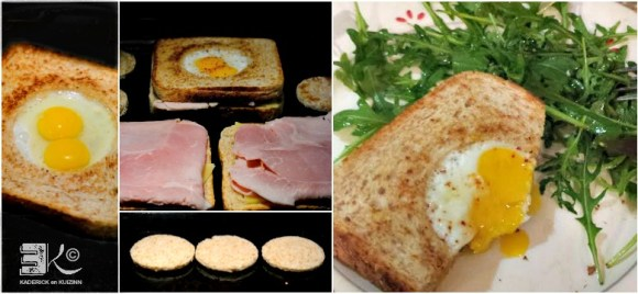 Cuisson plancha croque madame oeufs caille