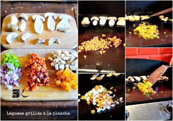 Légumes grillés plancha et filet de sandre - Kaderick en Kuizinn