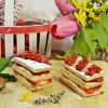 Millefeuilles fraises crème vanille thym citron vert