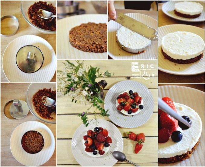 Chessecake facile speculoos brocciu fraises framboises myrtilles - Kaderick en Kuizinn