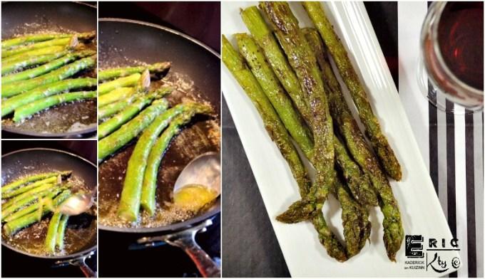 Cuisson poêle asperges vertes au beurre - Kaderick en Kuizinn