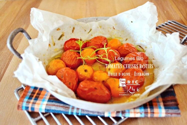 Tomates cerises confites huile d'olive estragon