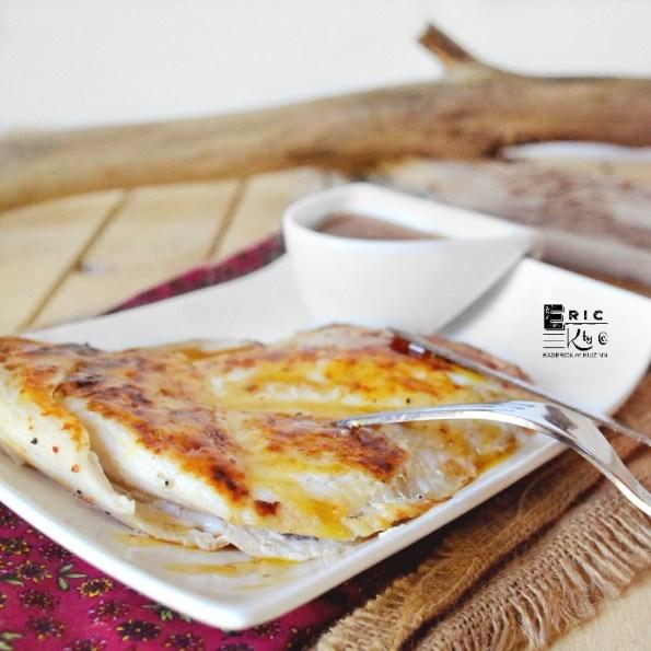 Poisson plancha - Cabillaud cuit semi papillote et sauce ananas - Kaderick