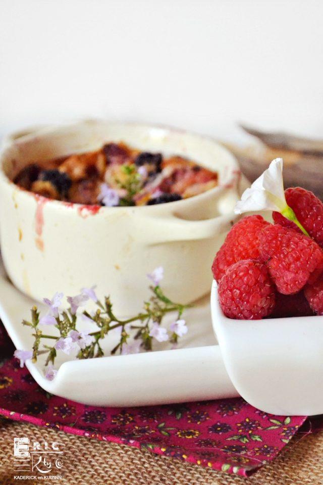Clafoutis fruits rouges pour un goûter d'été - Kaderick en Kuizinn