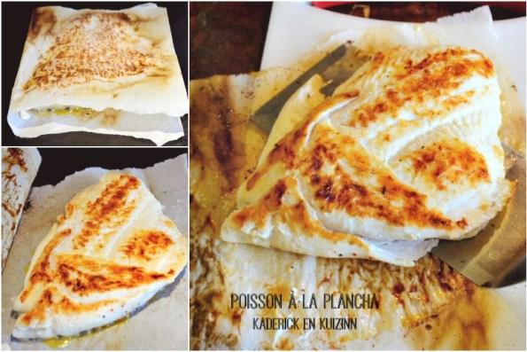 Cuisson plancha filet poisson sur papier sulfurisé - Kaderick en Kuizinn