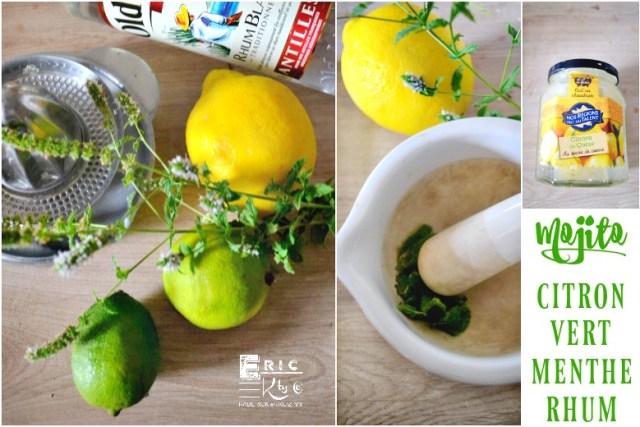 Mojito - Ingrédients sauce mojito accompagne viande ou poisson - Kaderick en Kuizinn