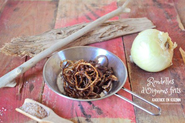 Rondelles oignons frits à l'huile d'olive
