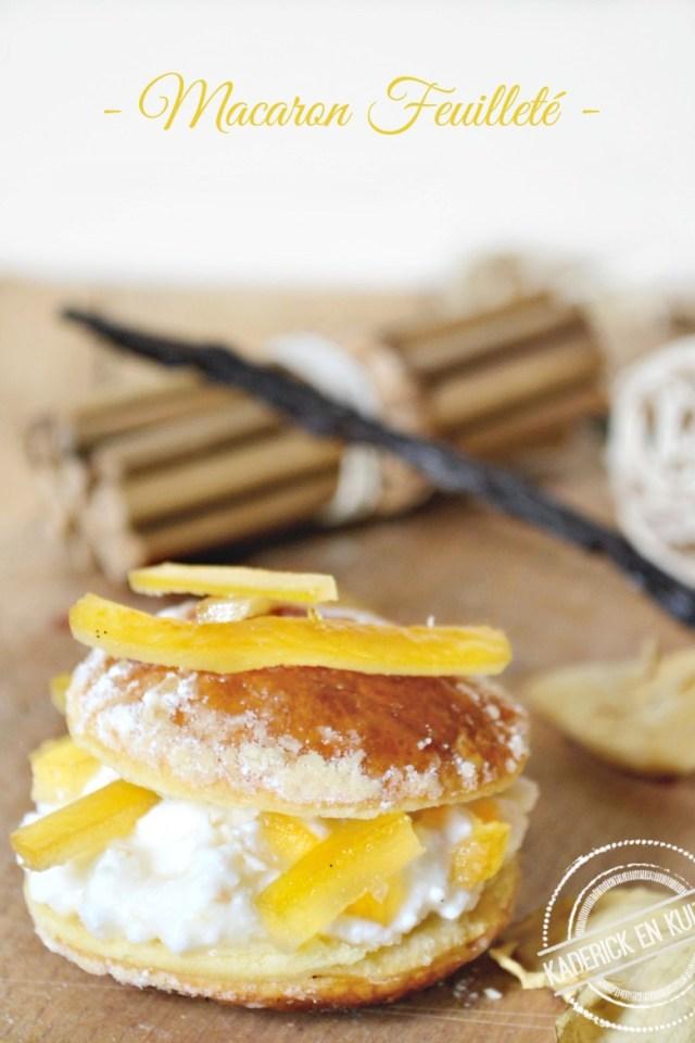 macaron feuillete avec chapeau vol au vent brousse citron confit kaderick en kuizinn