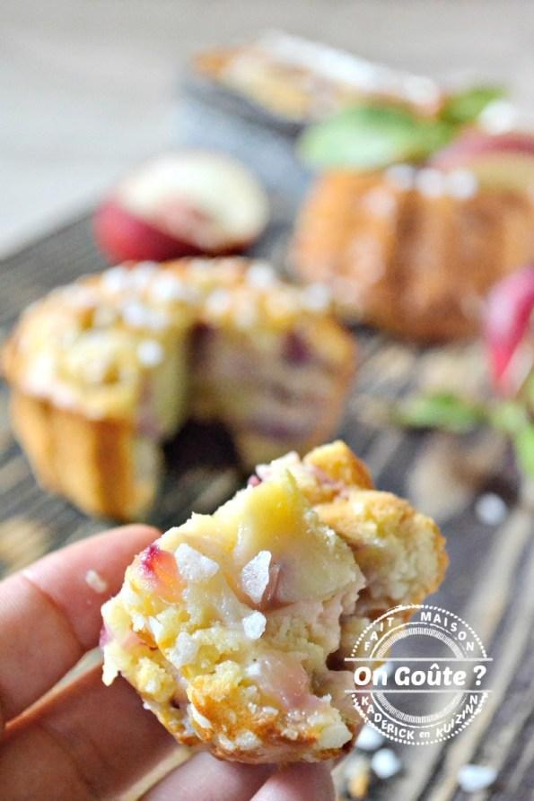 Part de Bundt cake - Muffins ou cake moelleux de nectarines | Kaderick en Kuizinn