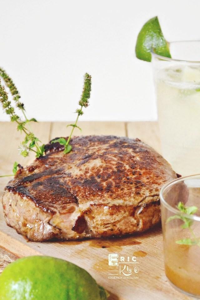 Quasi veau grillé plancha et sauce mojito - Kaderick en Kuizinn