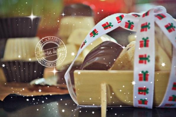 Chocolats de Noël - chocolat au lait ou chocolat blanc aux spéculoos