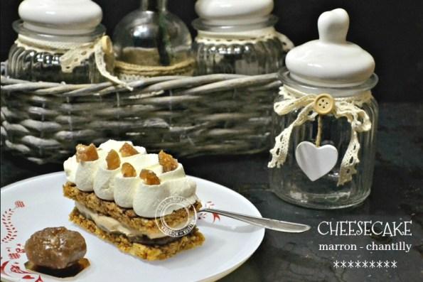 recette cheesecake gâteau à la crème marron et chantilly mascarpone