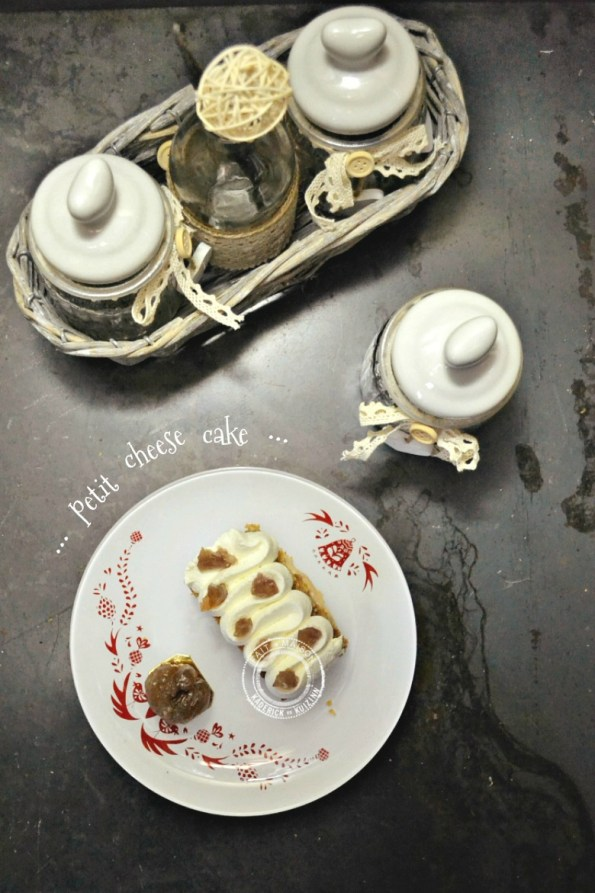 recette cheesecake en gâteau individuel aux marrons glacés