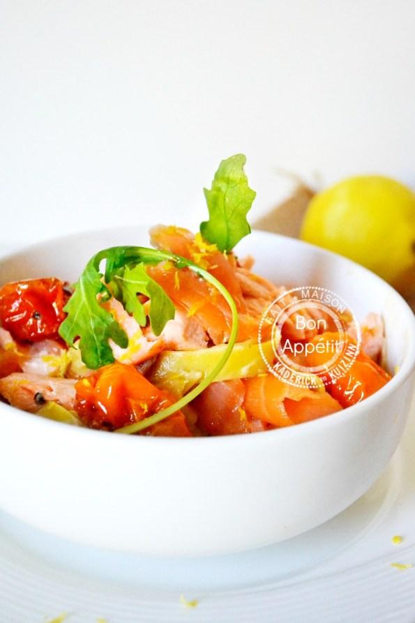 Recette tagliatelles fraîches safran fait maison aux deux saumons