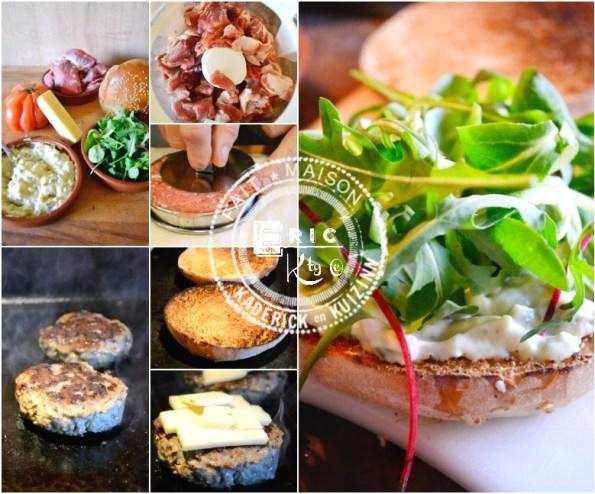 Plancha hamburger agneau cheddar sauce tartare
