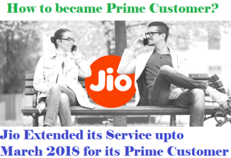 Jio Prime Customer unlimited offer until march 2018