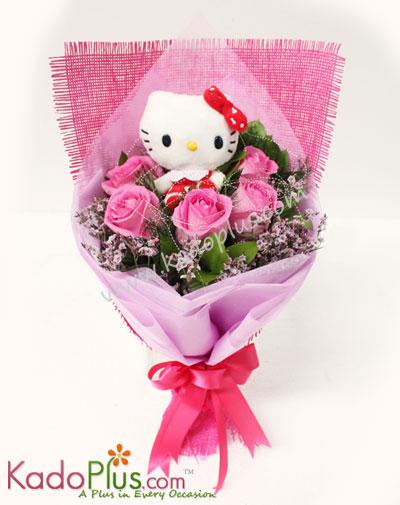 Flori Kitty Bouquet Toko Bunga Online Florist Parcel