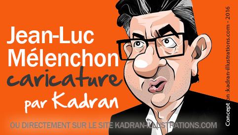 Jean-Luc Mélenchon caricature en vidéo
