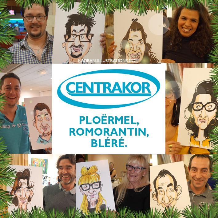 Noël en caricatures chez CENTRAKOR
